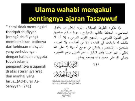 ulama wahabi pro sufi